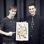 Martin le Magicien et carte géante